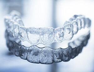Clear plastic nightguard for bruxism treatment