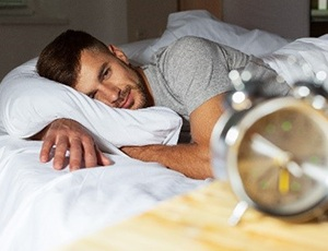 Man waking well-rested