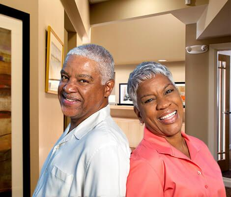 Older couple inside of Klein Family Dentistry