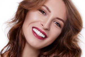 woman with a beautiful smile from cosmetic dentist in Harrisburg